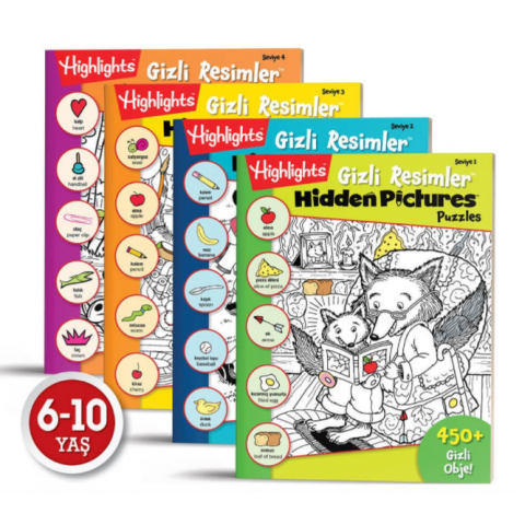 Hidden Pictures Gizli Resimler 4'lü Set